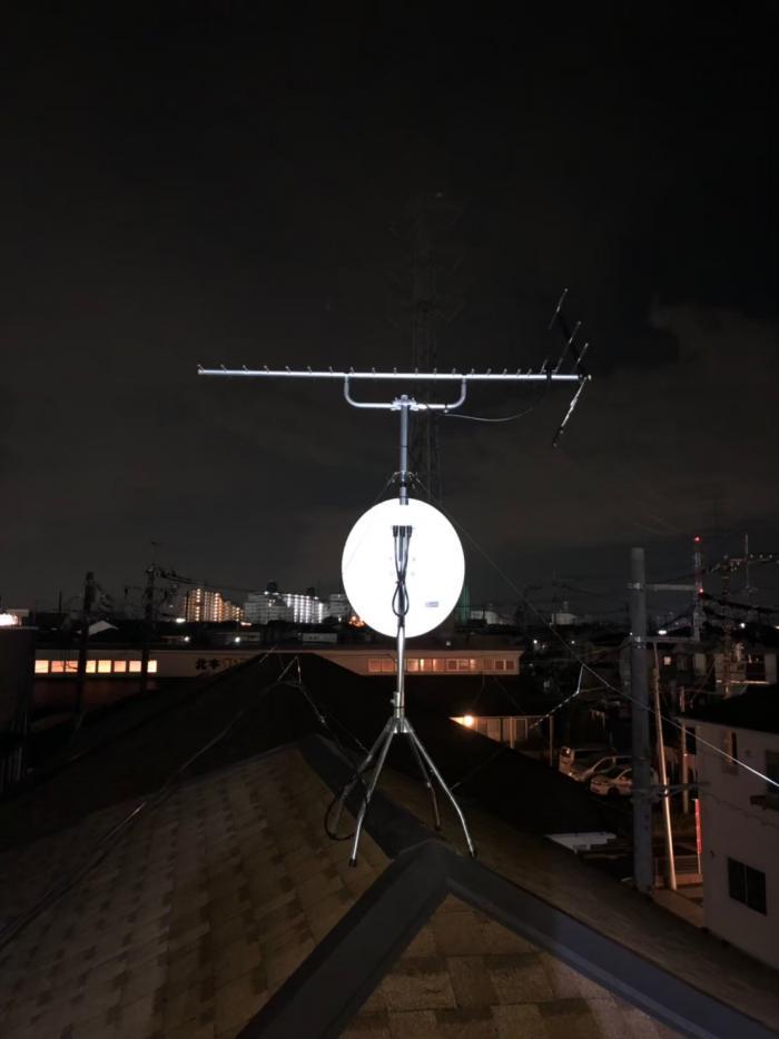 北本市中丸|UHFアンテナ+BS/CSアンテナ工事