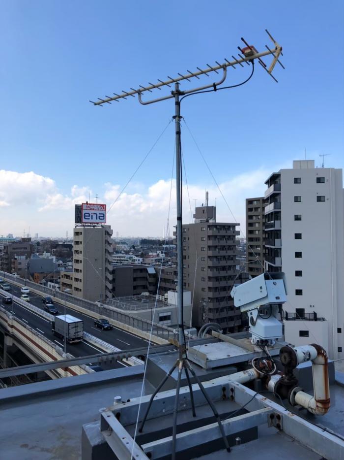 世田谷区大原|UHFアンテナ立て直し工事