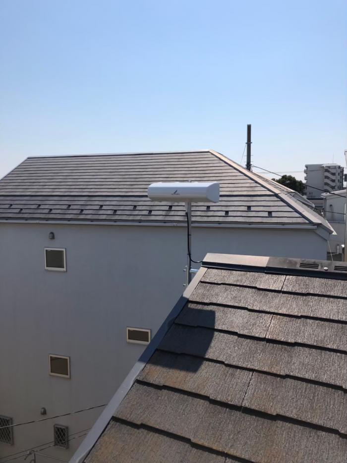 横浜市瀬谷区南台|横型デザインアンテナ+既設アンテナ撤去工事