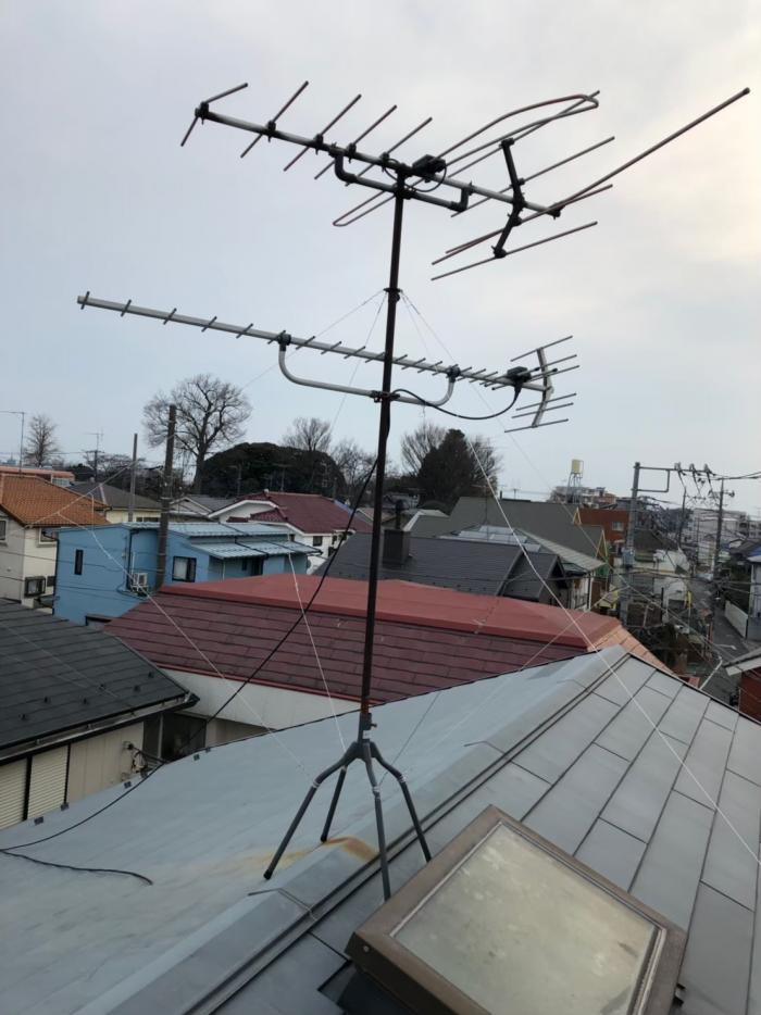 西東京市下保谷|アンテナ立て直し工事
