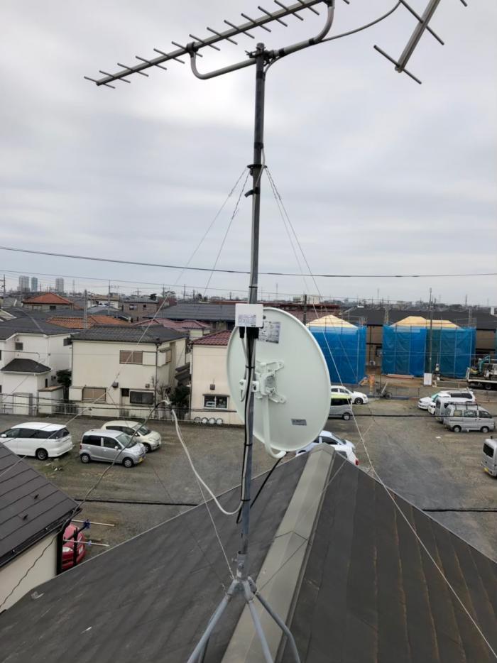 新座市栄|BSアンテナ追加工事
