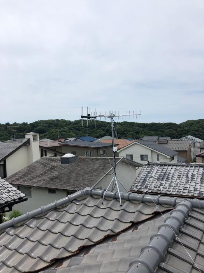 鎌倉市腰越|UHFアンテナ工事