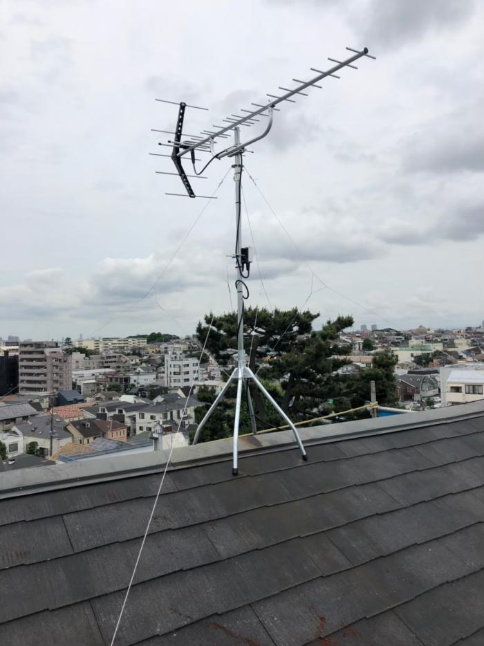 大田区山王|UHFアンテナ立て替え工事