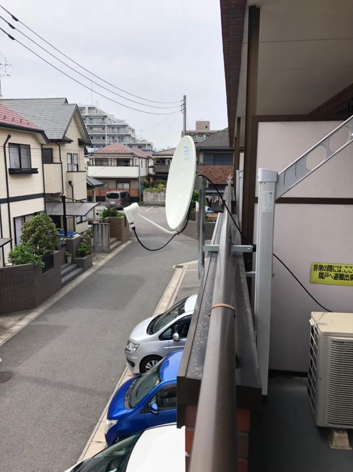 松戸市稔台|BS/CSアンテナ設置工事