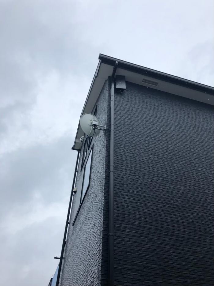 国分寺市東戸倉|デザインアンテナ+BS/CSアンテナ工事|住宅情報館