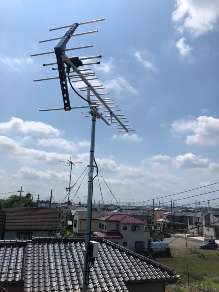 加須市外川|UHFアンテナ工事