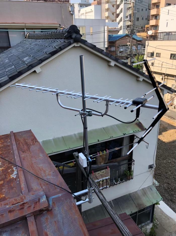 江東区大島|UHFアンテナ+既設アンテナ撤去工事