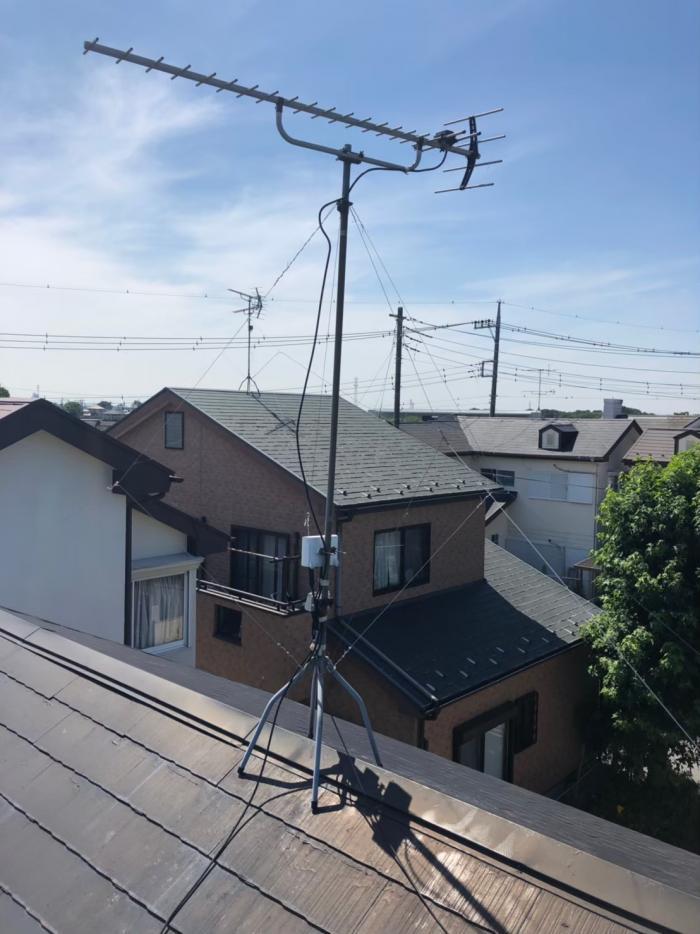 吉川市川藤|支線ワイヤー張り替え工事