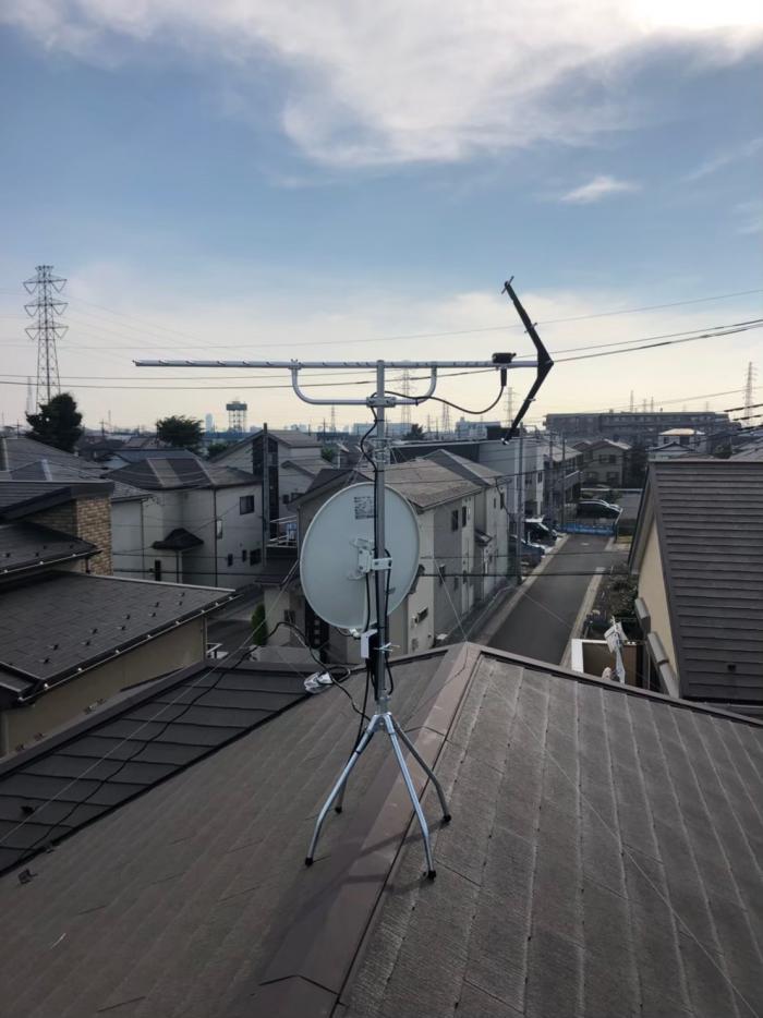 さいたま市緑区原山|UHFアンテナ+BS/CS アンテナ工事