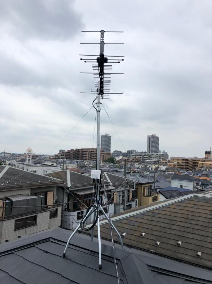 ふじみ野市鶴ヶ舞|UHFアンテナ工事