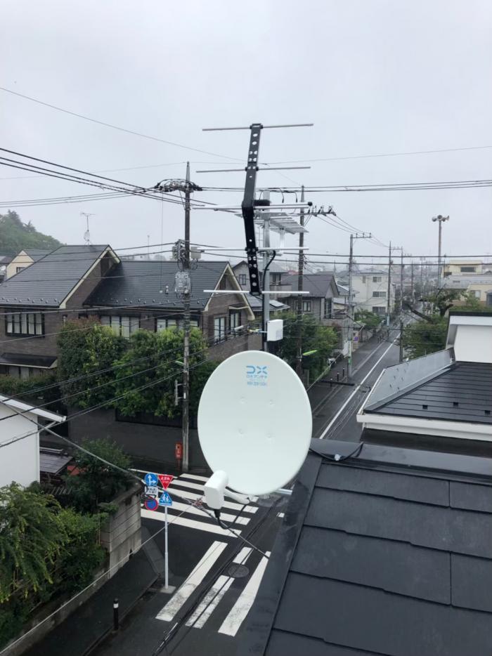 世田谷区下馬 UHFアンテナ+BS/CSアンテナ工事