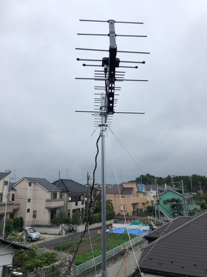 調布市染地|UHFアンテナ工事