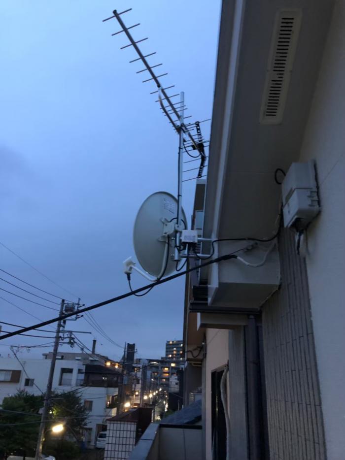練馬区豊玉北|UHFアンテナ+BS/CSアンテナ工事