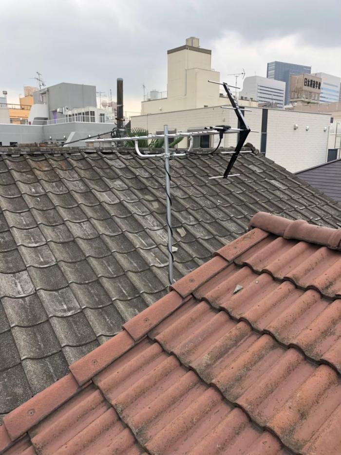 新宿区百人町|UHFアンテナ+既設アンテナ撤去工事