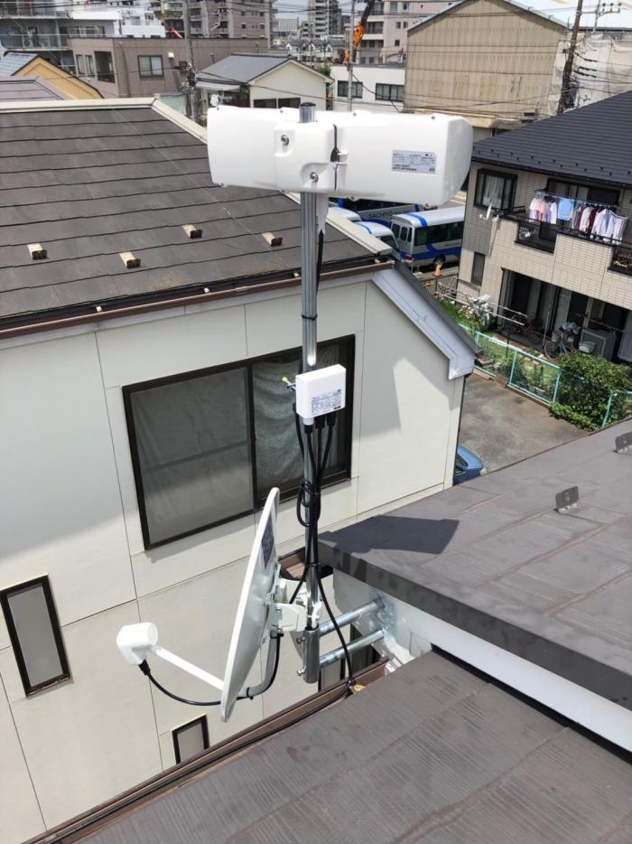 大田区東糀谷|横型デザインアンテナ+BS/CSアンテナ工事