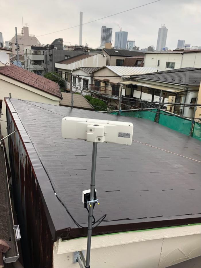 豊島区池袋|横型デザインアンテナ工事