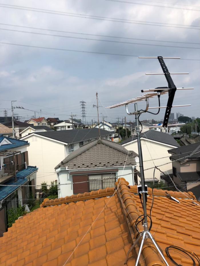 所沢市上新井|UHFアンテナ+既設アンテナ撤去工事