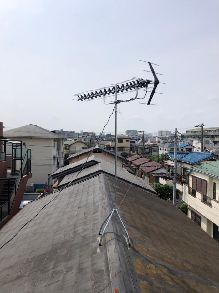 市川市大和田|高性能UHFアンテナ工事