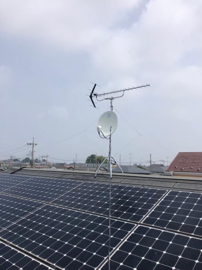 北本市緑|UHFアンテナ+BS/CSアンテナ工事