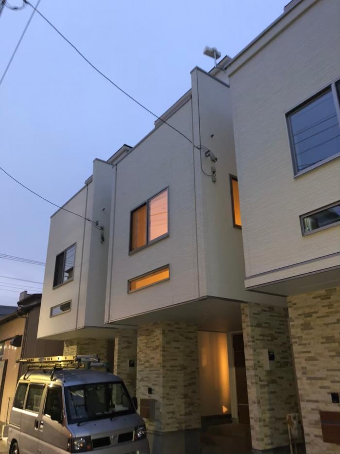 川崎市幸区古市場 横型デザインアンテナ工事 オープンハウス
