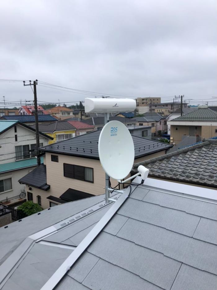 船橋市高根台|横型デザインアンテナ+BS/CSアンテナ工事