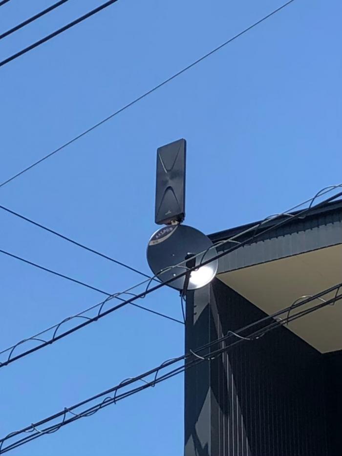 八千代市麦丸 デザインアンテナ+BS/CSアンテナ工事