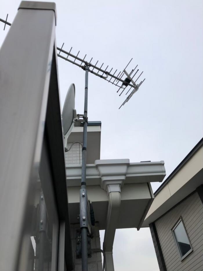 吉川市美南|UHFアンテナ+BS/CSアンテナ方向調整工事