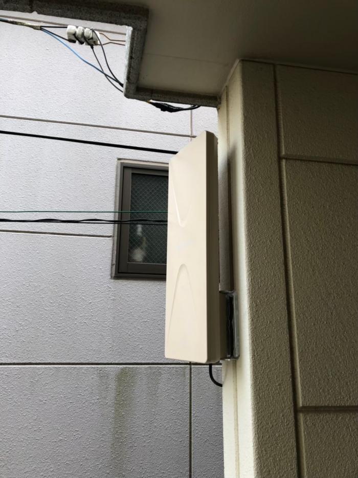 世田谷区北烏山 デザインアンテナ+BS/CSアンテナ工事