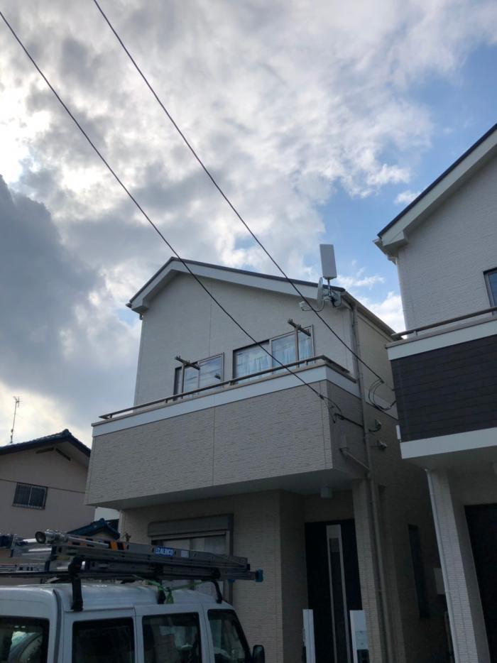 所沢市青葉台 デザインアンテナ+BS/CSアンテナ工事 飯田産業