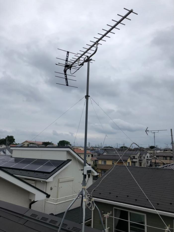 入間市野田|UHFアンテナ工事
