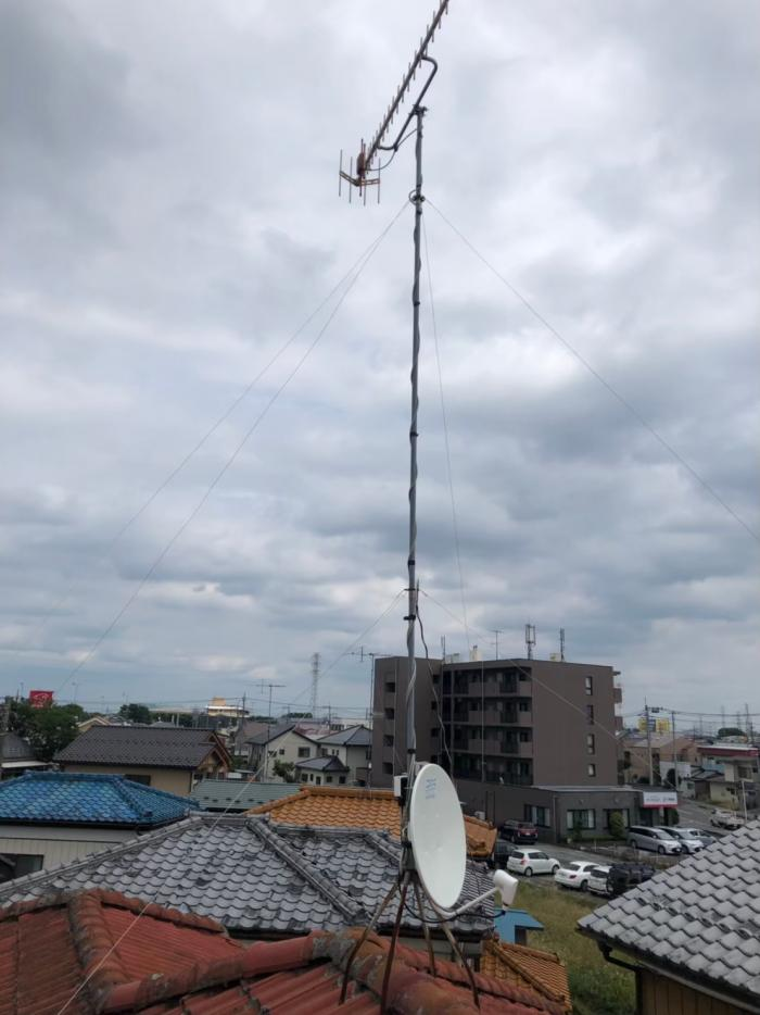 熊谷市中央|BS/CSアンテナ追加工事