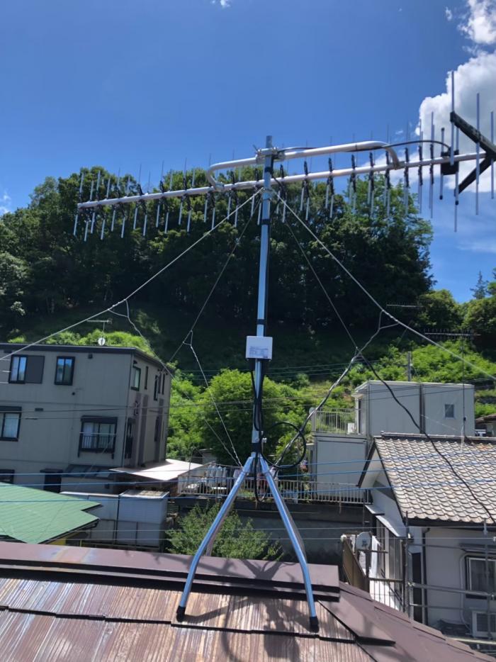 愛甲郡清川村煤ヶ谷 高性能UHFアンテナ工事