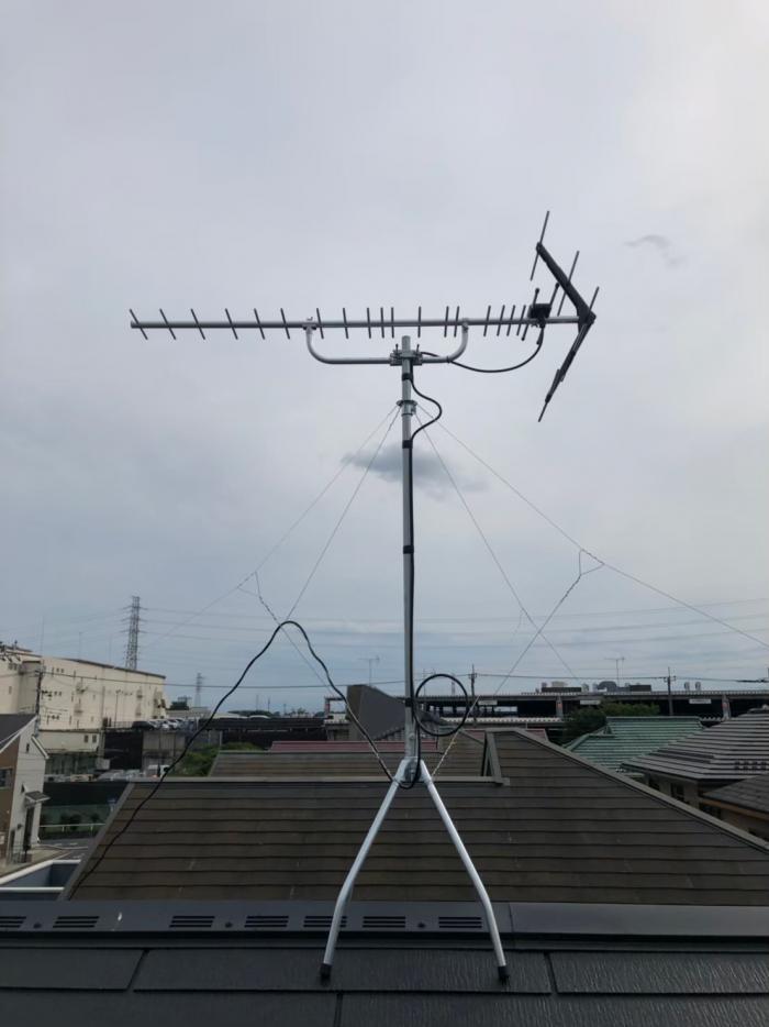 ふじみ野市鶴ヶ丘 UHFアンテナ工事 一建設