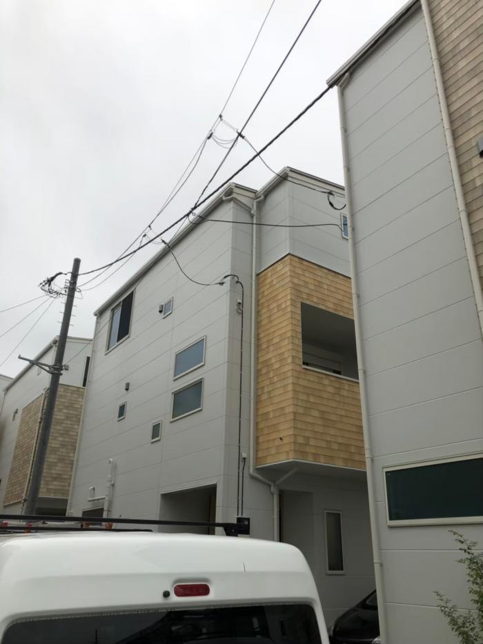 江戸川区南葛西|デザインアンテナ+BS/CSアンテナ工事|ハウセット