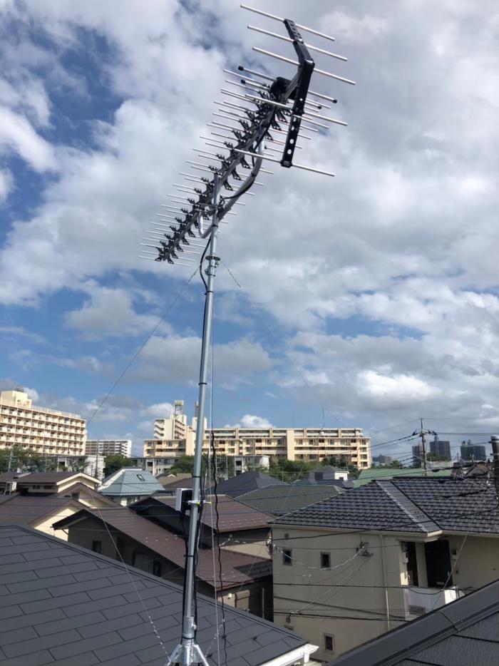 所沢市弥生町|高性能UHFアンテナ工事