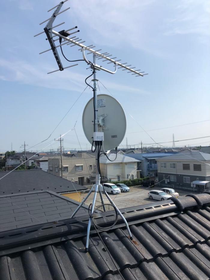 龍ケ崎市佐貫|UHFアンテナ+BS/CSアンテナ工事