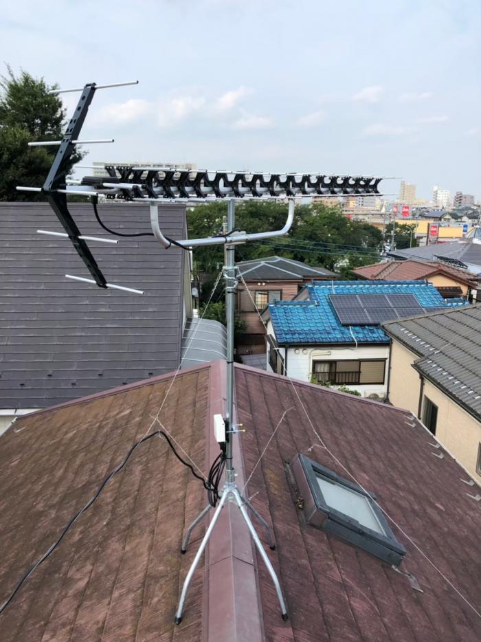 狭山市入間川|高性能UHFアンテナ工事