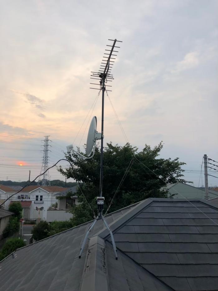 ふじみ野市鶴ヶ丘|BS/CSアンテナ追加工事