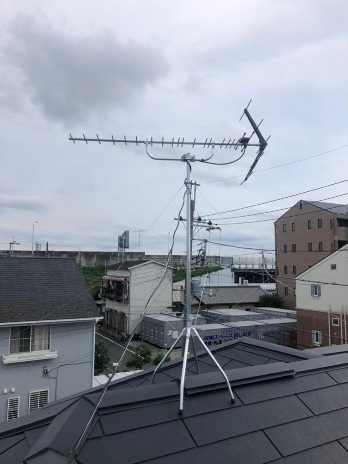 坂戸市緑町|UHFアンテナ工事