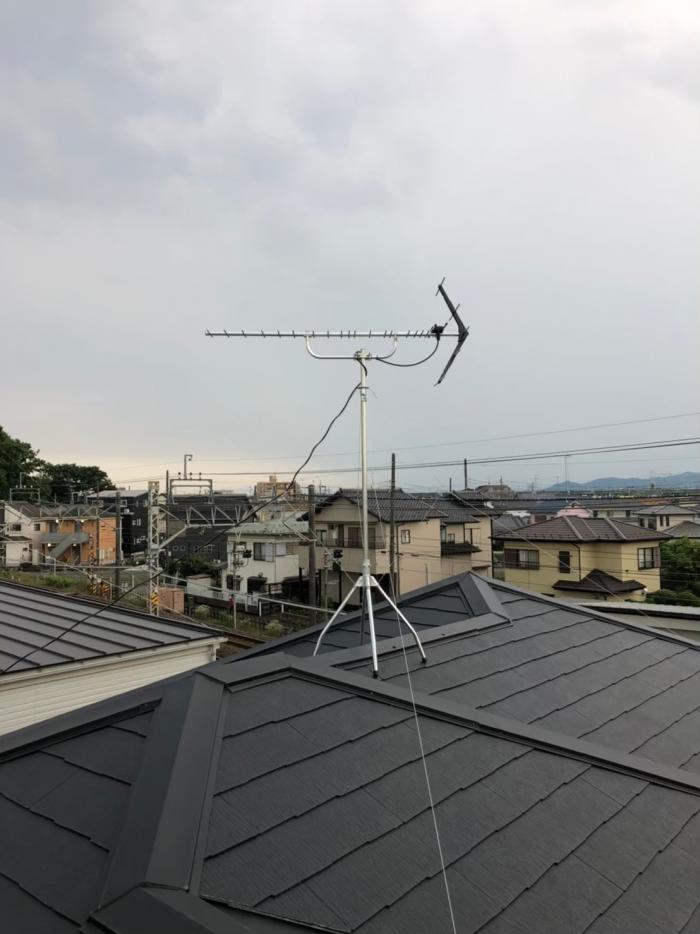 坂戸市中富町|UHFアンテナ工事