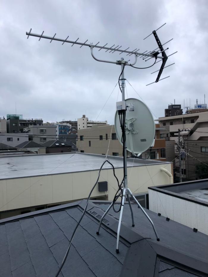 横浜市港南区日限山 UHFアンテナ+BS/CSアンテナ工事
