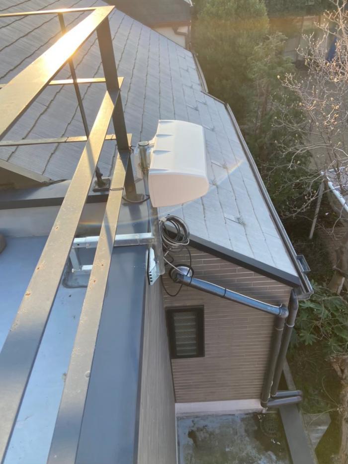 品川区旗の台|横型デザインアンテナ工事