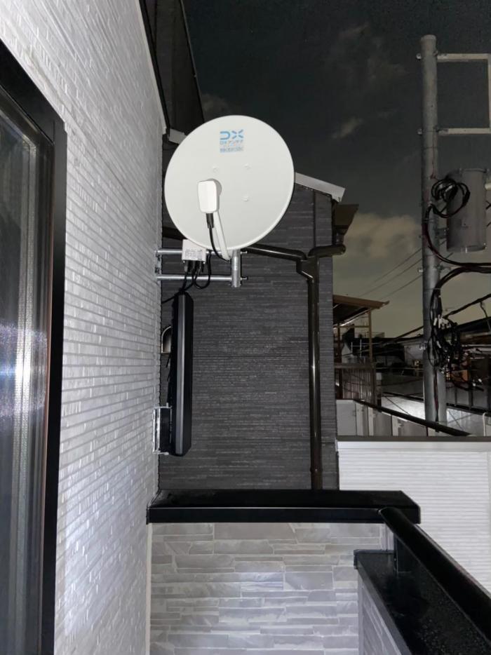 荒川区東尾区|デザインアンテナ+BS/CSアンテナ工事|オープンハウス