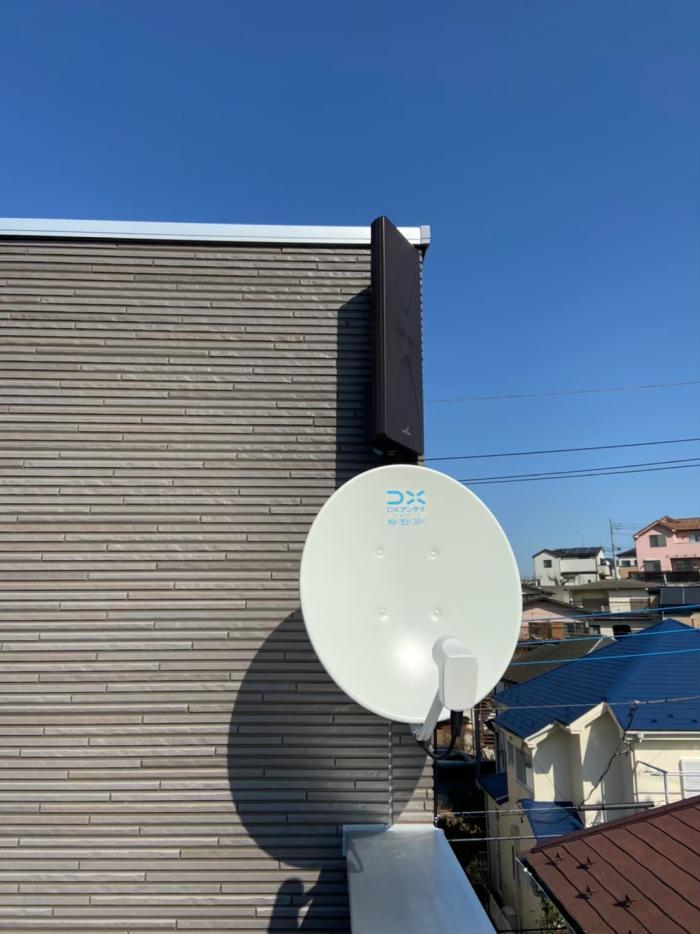 新座市大和田|デザインアンテナ+BS/CSアンテナ工事|住宅情報館