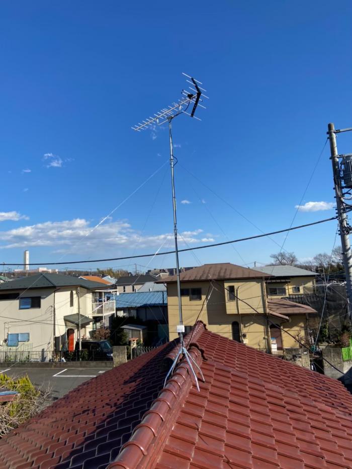 相模原市緑区下九沢|UHFアンテナ工事