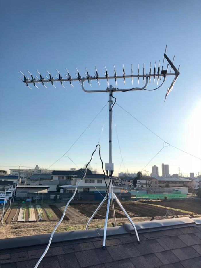 所沢市向陽町|高性能UHFアンテナ工事