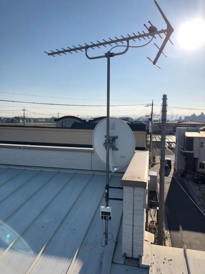 熊谷市拾六間|BS/CSアンテナ追加工事