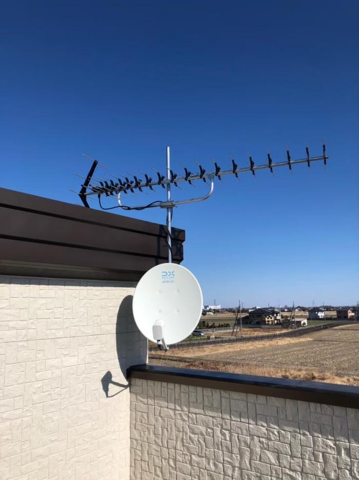 羽生市須影|高性能UHFアンテナ+BS/CSアンテナ工事