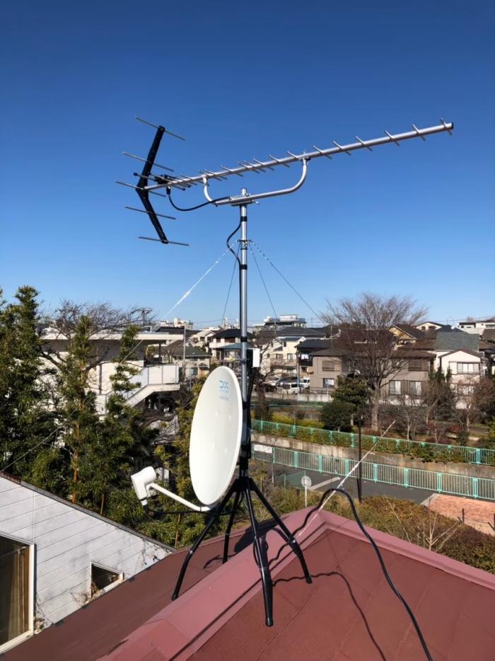 杉並区高井戸西|UHFアンテナ+BS/CSアンテナ工事