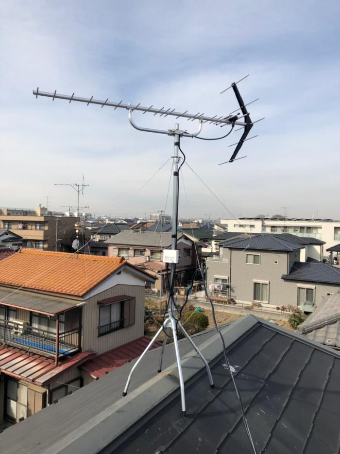 久喜市本町|UHFアンテナ工事